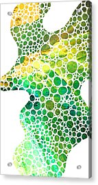 Green Abstract Art - Colorforms 4 - Sharon Cummings Acrylic Print by Sharon Cummings