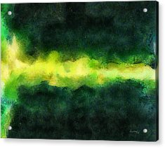 Green Abstract Acrylic Print by Russ Harris