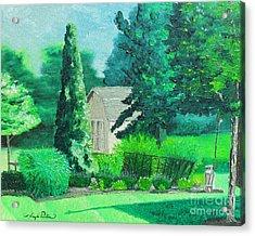 Green And Growing Acrylic Print by Joseph Palotas