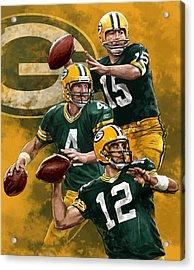 Green Bay Packers Quarterbacks Acrylic Print by Nate Baranowski