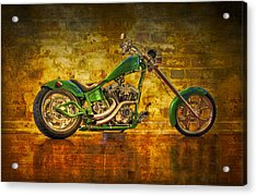 Green Chopper Acrylic Print by Debra and Dave Vanderlaan
