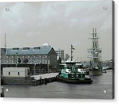 Green Day At Seaport Acrylic Print by Jerry Editor