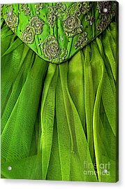 Green Frock Acrylic Print by Mexicolors Art Photography