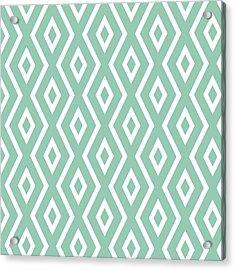 Green Pattern Acrylic Print by Christina Rollo