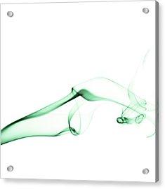 Green Smoke Acrylic Print by Scott Norris