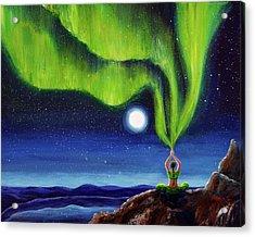 Green Tara Creating The Aurora Borealis Acrylic Print by Laura Iverson