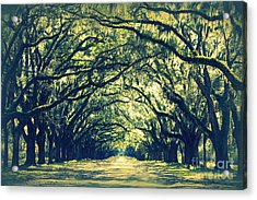 Green World Acrylic Print by Carol Groenen
