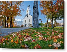 Greenfield Church Acrylic Print by Susan Cole Kelly