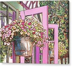 Greenhouse Doors Acrylic Print by Nadi Spencer
