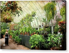 Greenhouse Stroll Acrylic Print by Diana Angstadt