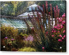 Greenhouse - The Greenhouse Acrylic Print by Mike Savad