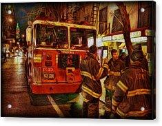 Greenwich Village's Finest Acrylic Print by Lee Dos Santos