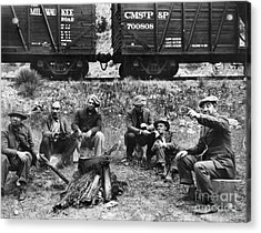 Group Of Hoboes, 1920s Acrylic Print by Granger