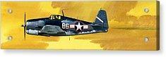 Grumman F6f-3 Hellcat Acrylic Print by Wilf Hardy