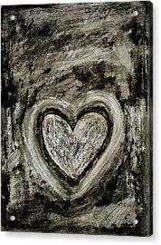Grunge Heart Acrylic Print by Frank Tschakert