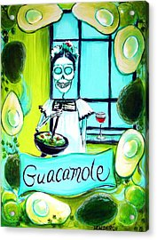 Guacamole Acrylic Print by Heather Calderon