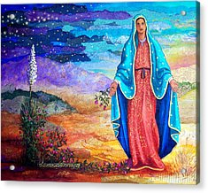 Guadalupe De La Frontera Acrylic Print by Candy Mayer