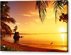 Guam, Agat Bay Acrylic Print by Dave Fleetham - Printscapes