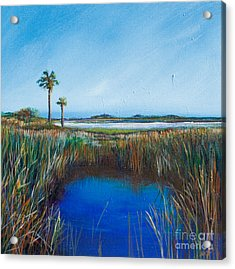 Guana River Lll Acrylic Print by Michele Hollister - for Nancy Asbell