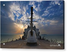 Guided-missile Destroyer Uss Higgins Acrylic Print by Stocktrek Images