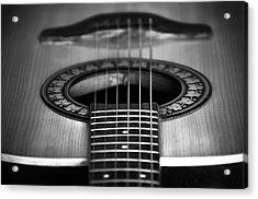 Guitar Close Up Acrylic Print by Svetlana Sewell