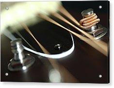 Guitar Fender Acrylic Print by Mizanur Rahman