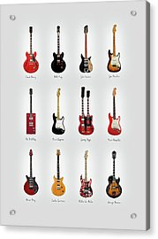 Guitar Icons No1 Acrylic Print by Mark Rogan