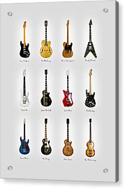 Guitar Icons No2 Acrylic Print by Mark Rogan