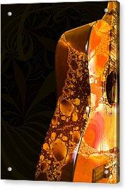 Guitar - Shape - Musical Instruments Acrylic Print by Anastasiya Malakhova