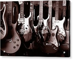 Guitar Shop Acrylic Print by David April