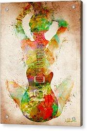 Guitar Siren Acrylic Print by Nikki Smith