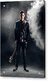 Guitarist Acrylic Print by Johan Swanepoel