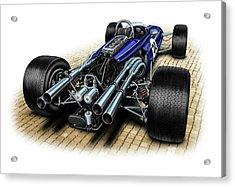 Gurney Eagle F-1 Car Acrylic Print by David Kyte