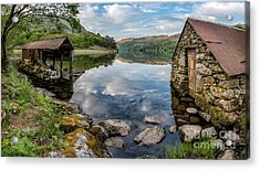 Gwynant Lake Boat House Acrylic Print by Adrian Evans