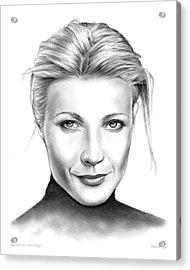 Gwyneth Paltrow Acrylic Print by Greg Joens