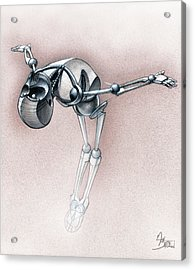 Gym-bot Floor Acrylic Print by Nicholas Bockelman