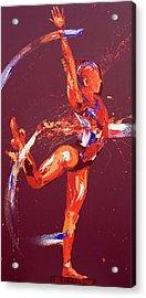 Gymnast Nine Acrylic Print by Penny Warden