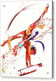 Gymnast One Acrylic Print by Penny Warden