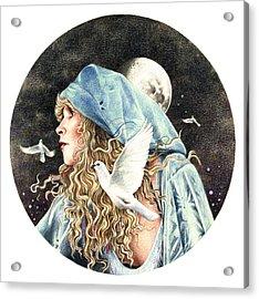Gypsy Acrylic Print by Johanna Pieterman