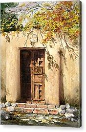 Hacienda Gate Acrylic Print by Sam Sidders