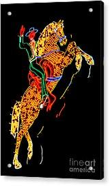 Hacienda Horse And Rider Acrylic Print by Az Jackson