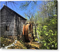 Hagood Mill Historic Site Gristmill Acrylic Print by Kelly Hazel