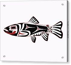 Haida Trout Acrylic Print by Rob Tullis