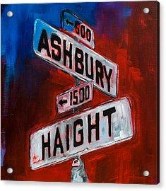 Haight And Ashbury Acrylic Print by Elise Palmigiani
