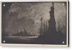 Hail America Acrylic Print by Joseph Pennell