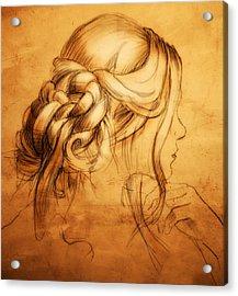 Hair Acrylic Print by H James Hoff