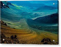 Acrylic Print featuring the photograph Haleakala by M G Whittingham