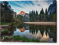 Half Dome And  Merced Acrylic Print by Mimi Ditchie Photography