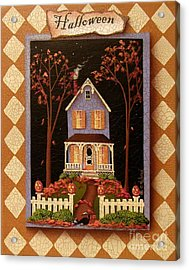 Halloween Hill Acrylic Print by Catherine Holman