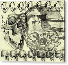 Halloween In Grunge Style Acrylic Print by Michal Boubin